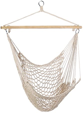 Amazon.com: Gifts & Decor Cotton Rope Hammock Cradle Chair with .