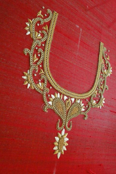 Pin by janaki bandari on Embroidery neck patterns (With images .