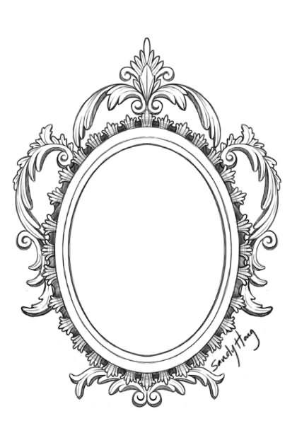 25+ Victorian Hand Mirror Tatt