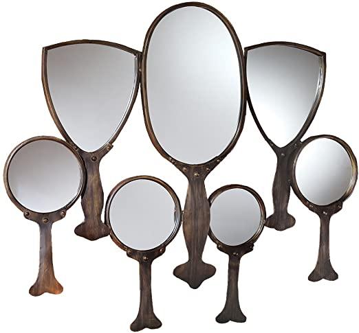 Amazon.com: Design Toscano Reflective Gaze Hand Mirror Wall .