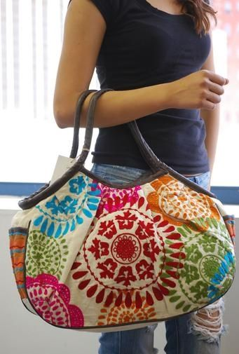 Its all in the Art- Big Embroidered Bags for all types .