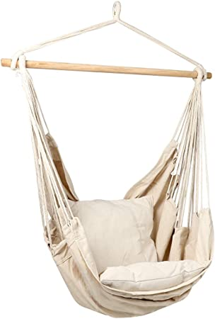 Amazon.com: Bormart Hanging Rope Hammock Chair Large Cotton Weave .