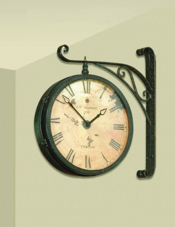 Victorian Double Sided Hanging Wall Clock | Bassett Mirror Company .