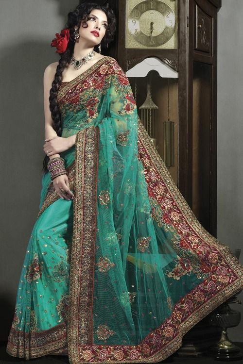best heavy Border work sarees for wedding events | Party wear .
