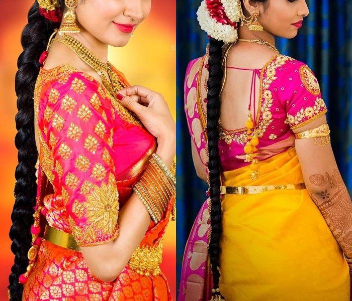 Gorgeous Heavy Work Silk Saree Blouses From Pleatz | Pattu saree .