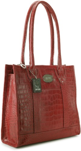Buy Hidesign SB Logo Day Shoulder Bag Red at best price in India .