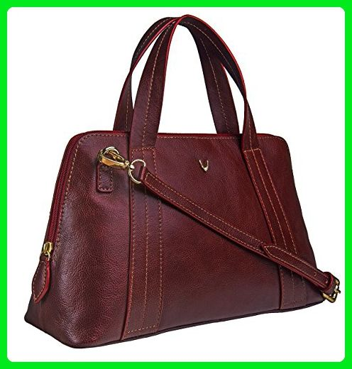 HIDESIGN Cerys Leather Satchel, Red - Top handle bags (*Amazon .