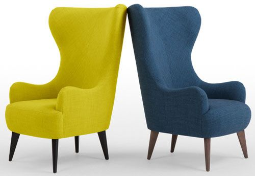 Retro-style Bodil high back chair at Made | High back chairs, High .