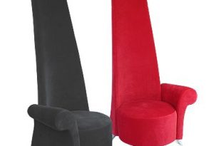 Potenza-Contemporary-High-Back-Red-Chair | Red chair, Funky chairs .