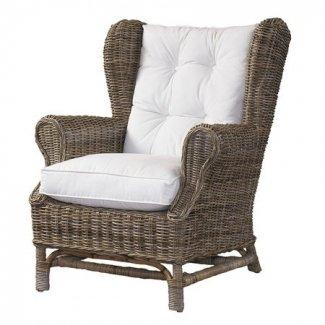 High Back Wicker Arm Chair - Ideas on Fot