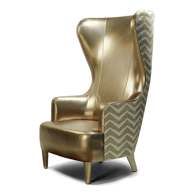 Types of High Back Accent Chairs: Classy Gold High Back Accent .
