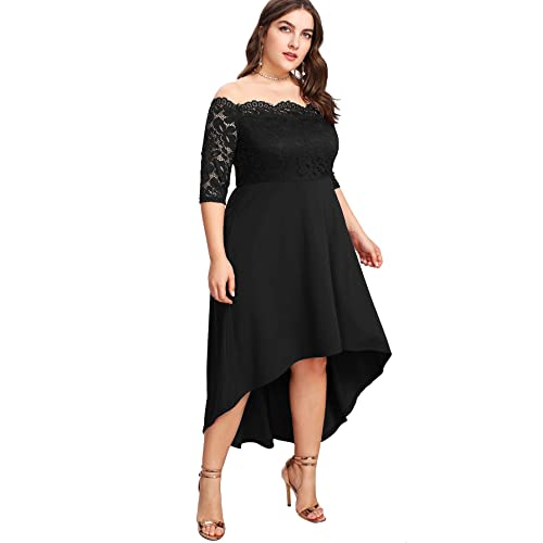 Black High Low Dresses for Plus Size: Amazon.c