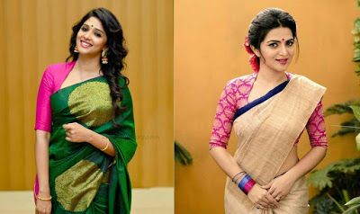 35 Stylish high neck blouse designs for pattu sarees (With images .