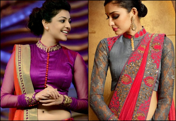 20 Stunning High Neck Blouse Designs To Pair With Sare