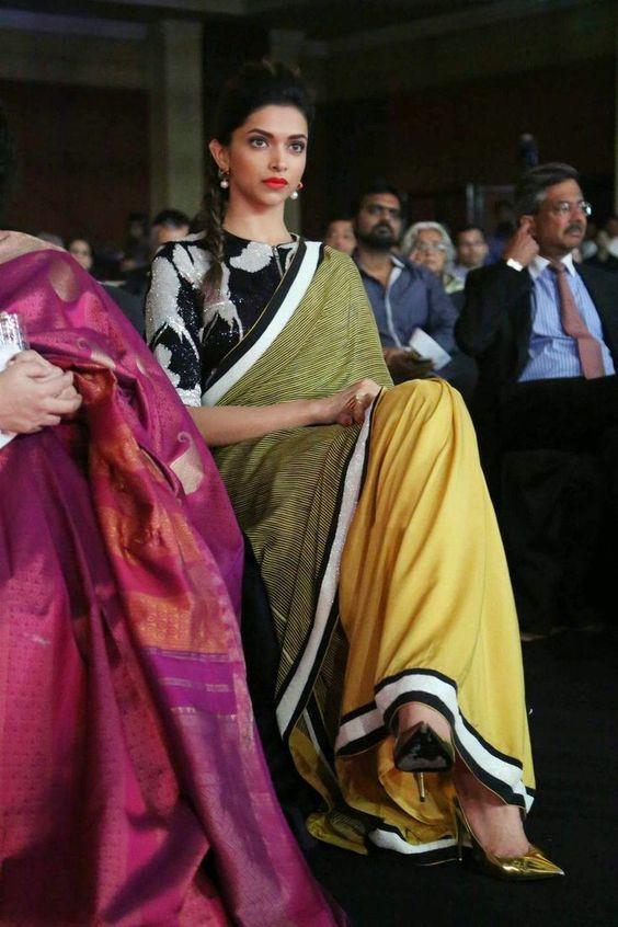 Deepika's Top 10 High Neck Saree Blouse Designs | Saree blouse .