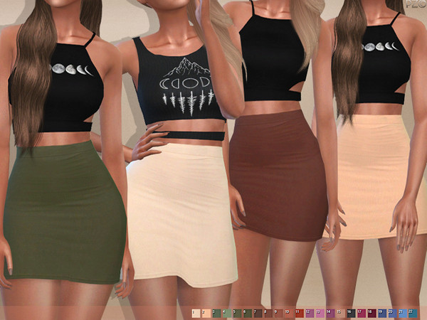 096 High Waisted Skirt by Pinkzombiecupcakes at TSR » Sims 4 Updat