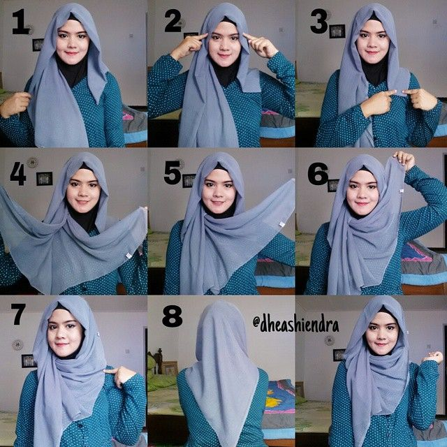 Check out this cute hijab style you can make using your square .
