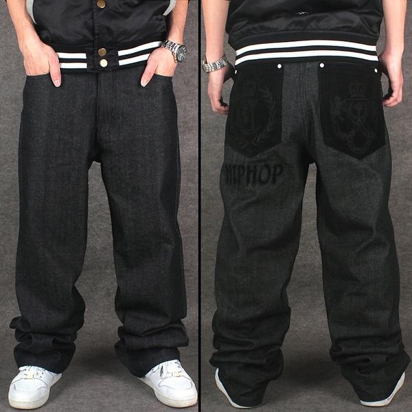 Big Size 30-46Men Hip Hop Jeans Men Baggy Jeans Denim Hip Hop .