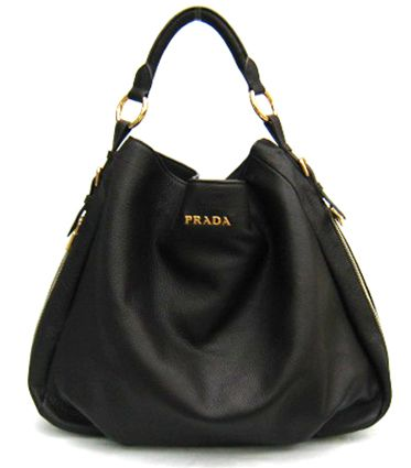 Prada Bag Leather Hobo Black BR4099 my designer brands | Hobo .