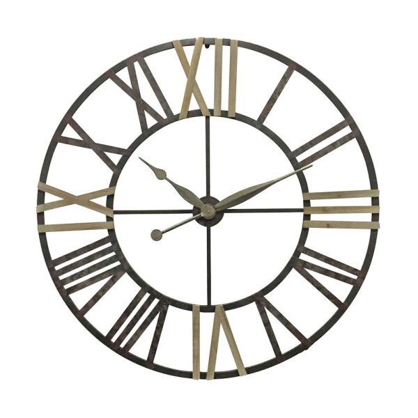 Sagebrook Home Roman Numeral Metal Wall Clock 13120 - The Home Dep