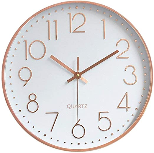 Amazon.com: Foxtop Modern Silent Quartz Wall Clock Non-Ticking .