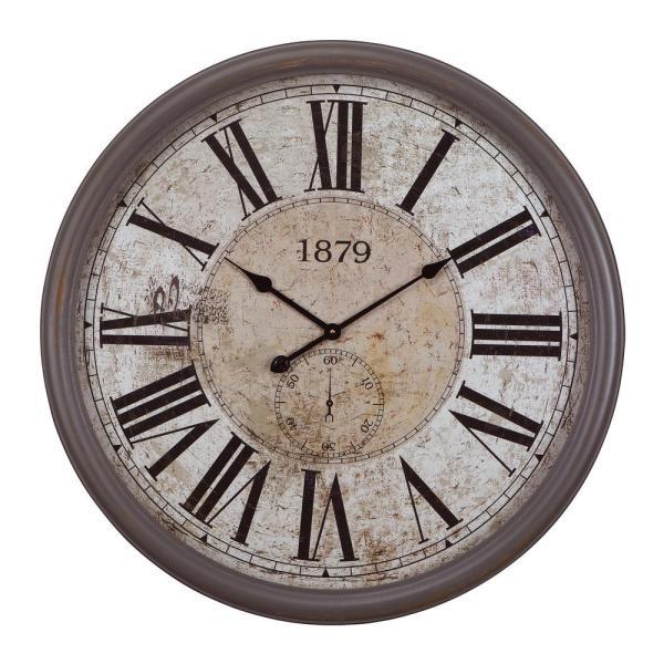 Yosemite Home Decor 31.5 in. x 31.5 in. Circular MDF Wall Clock .