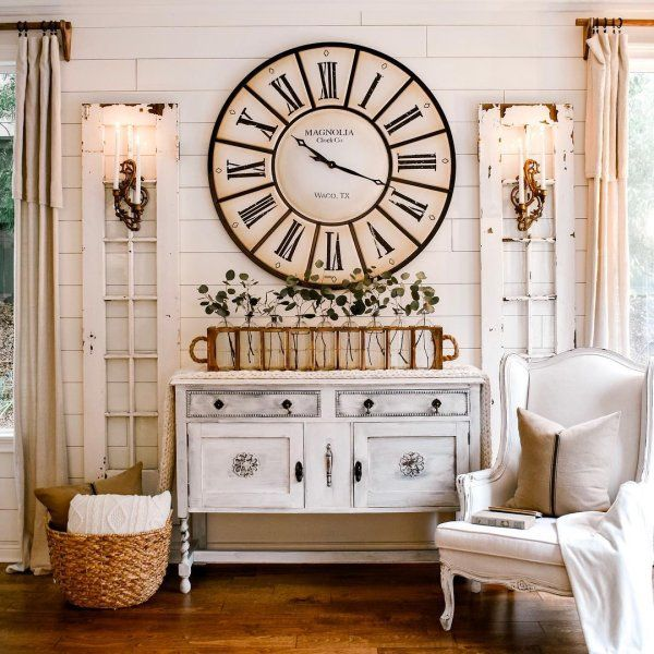 Magnolia Home Village Wall Clock | Pier 1 (With images) | Wall .