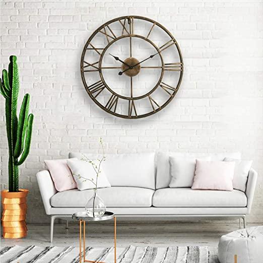 "Amazon.com: LightInTheBox 20"" H Country Style Metal Wall Clock ."