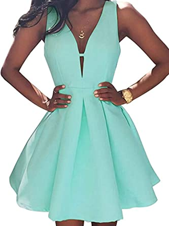 AiniDress Simple Little Homecoming Dress Short Sleeveless Party .