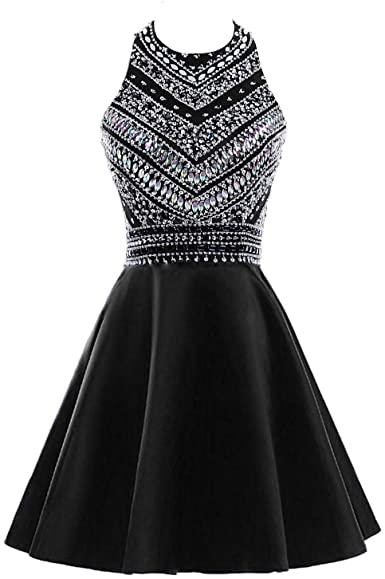Amazon.com: HEIMO Women's Sparkly Beaded Homecoming Dresses .