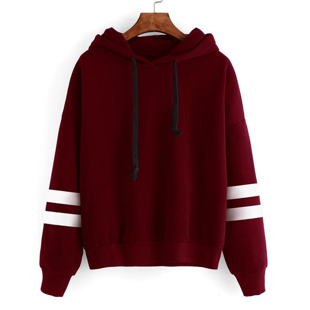 New Autumn Hooeded Sweatshirt Women Long Sleeve Pullover .