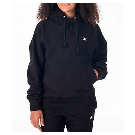 Champion Women's Reverse Weave Hoodie In Black   Champion clothing .