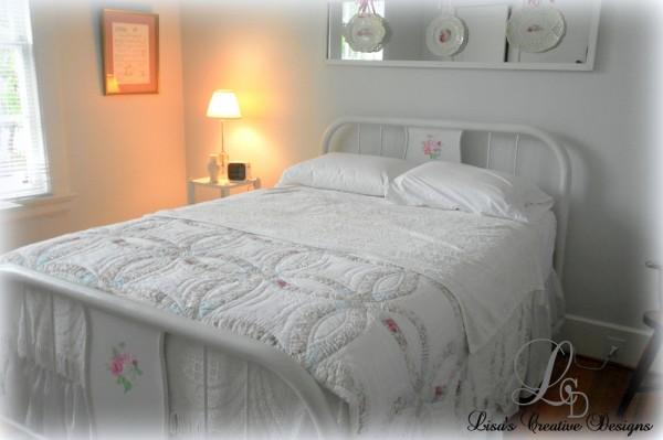 Dressing Up An Antique Hospital Bed - Lisa's Creative Desig