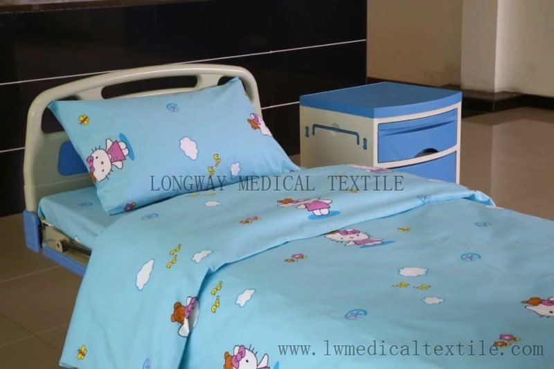 pure cotton with carton design Hospital Bed Linen for paediatr