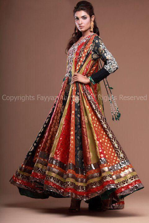 Banarsi frock | Indian frocks, Anarkali dress, Afghan dress
