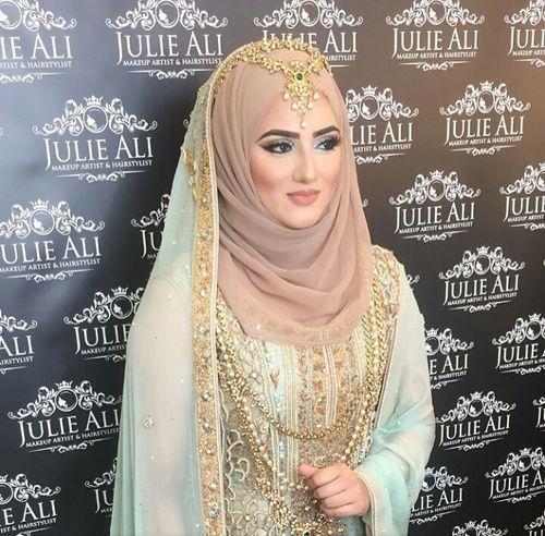 India Hijab Style (With images) | Hijab bride, Bridal hijab .