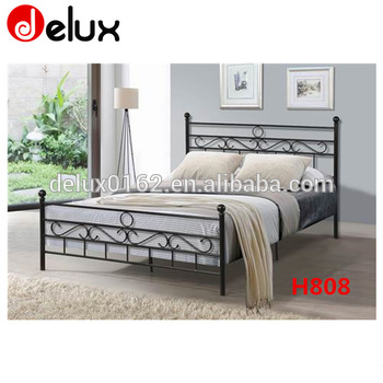 Antique Wrought Iron Bed Design H808 - Buy Steel Double Bed .