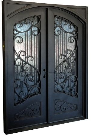 "6'0""x8'0"" Sofia Exterior Wrought Iron Door   Iron front do"