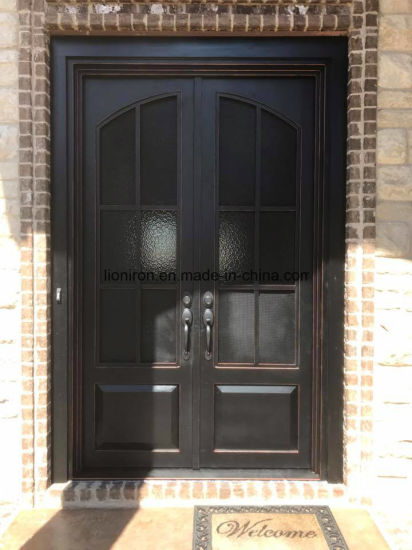 China Modern Entry French Main Wrought Iron Door Designs Double .