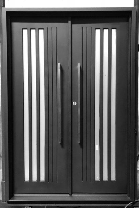 """Alto Double Iron Doors 65"""" x 96"""" - Left Hand In-Swi"""