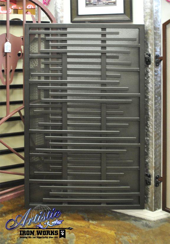 Layered wrought iron gate (com imagens) | Portas de aço, Portões .