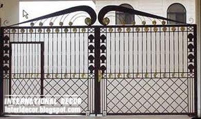 Modern Iron gate designs, glided black iron gate desig