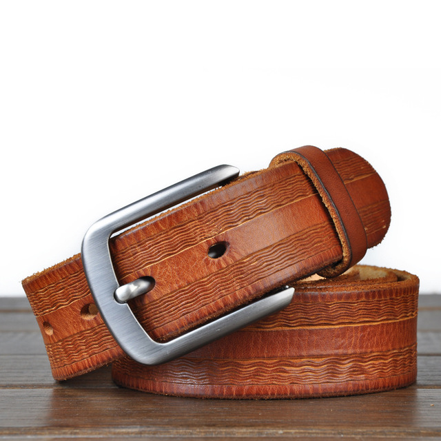 Vintage Brand Belts For Men Genuine leather Italian leather male .