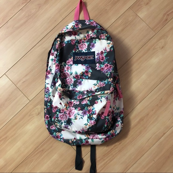 Jansport Bags   Brand New Backpack Floral Design   Poshma