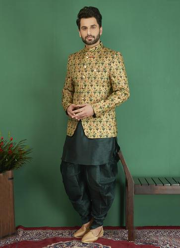 Kesari Exports Brocade and Jacquard Silk Jodhpuri Style Designer .