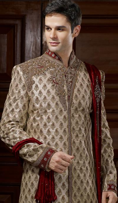 Get Scintillating Look on Your Wedding Day with Sherwani .