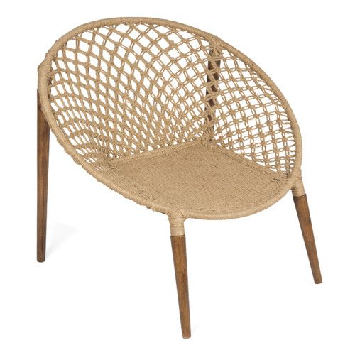 Jute Woven Ring Occasional Chair | Occasional chairs, Chair, Woven .