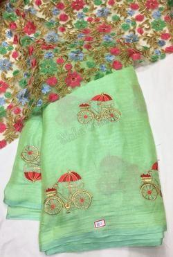 Latest Linen Jute Silk Sarees (With images) | Jute silk saree .