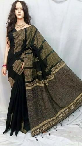 Black Jute Cotton Designed Saree, Rs 650 /piece Ali Saree | ID .