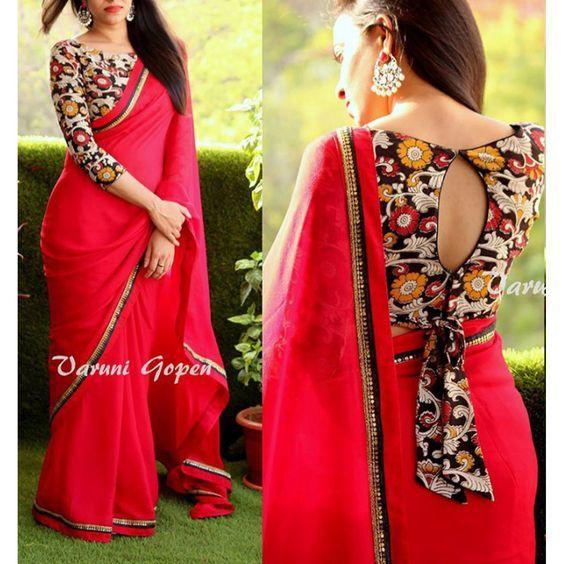30+ Best Kalamkari Blouse Designs Collections 2018-2020 .